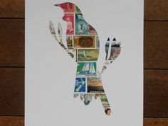 Tui Stamp Art   Felt Postage Stamp Art, New Zealand, Screen Printing, Stencils, Recycling, Felt, Inspired, Prints, Pictures