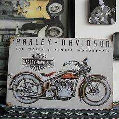 Motor Motorcycle Metal Tin Sign BAR CLUB HOME Vintage Old Wall Decor Decoration