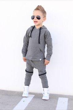 * This listing is only for the hoodie pictured, for matching joggers click here https://www.etsy.com/listing/556154884 * Matching hoodie for our biker joggers * This hoodie has a longer back than front * Functional pocket on the front * Size pictured is 4T- Child is 35lbs and 41in
