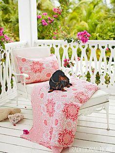 Model, Designer India Hicks' Home in the Bahamas -  Porch