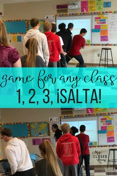 1, 2, 3, ¡SALTA! (1,2,3 Jump!) game to get class moving - Mis Clases Locas
