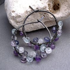 Lilacs Earrings by All About the Beads, via Flickr