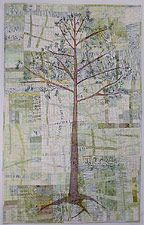 Kathie Briggs - Contemporary Fiber Art - Gallery of Art Quilts: 45 Degrees North - Flora