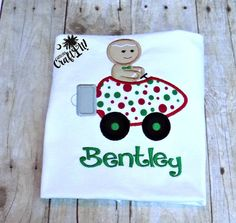 Christmas Day Boys, Toddlers, Infants Shirt, Embroidered, Appliqued, Personalized