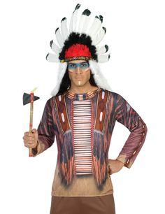 Indianer-Hemd Longsleeve Indianerhäuptling braun , günstige Faschings  Kostüme bei Karneval Megastore, der größte Karneval und Faschings Kostüm- und Partyartikel Online Shop Europas!