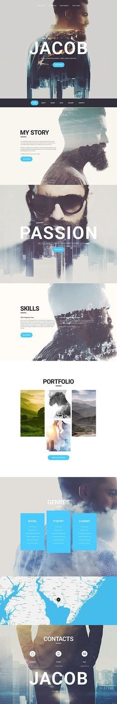 Template 57664 - Jacob Photographer  Responsive Joomla Template