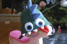 fleece handmade monster hat | The best part is that the hat is reversible so I used Steeler colors ...
