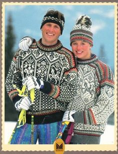 Dale of Norway Knitting Patterns Lillehammer 1994 Sweater Pattern English RARE | eBay