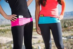 "Hips-Sister are the latest version of a ""fanny pack"" only cuter. The are made with a spandex material and have two zippered pockets and one top loading pocket to keep yourself hands free while running, exercising, running errands or at an amusement park. Four sizes available and various colors. $26 each"