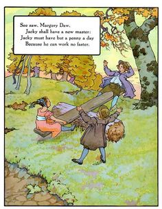 """See Saw, Margery Daw"" aus: ""Mother Goose"", Volland Popular Edition (1921), Illustration von Frederick Richardson (1862 - 1937)"