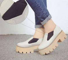 Giày Bánh mì - Trắng- đế cao kiểu slip on- BM199W – Doni86