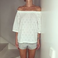 JustPaul - Boho Top White Blossom Lace