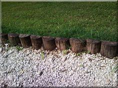 Akác rönk ágyásszegélyek - Kerti szegély Fa, Stepping Stones, Pergola, Outdoor Decor, Home Decor, Stair Risers, Decoration Home, Room Decor, Outdoor Pergola