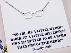 Geek Necklace, nerd jewelry, nerd gifts, nerdy necklace, jewelry with meaning, funny jewelry, gifts under 10, personal gifts, N10252