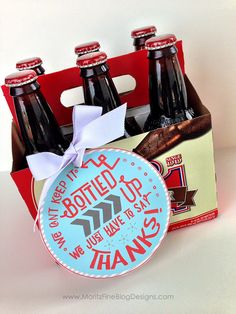 Super quick Teacher Appreciation Gift Idea for 2014! Print the tag and grab a 6-pack of pop! Use for Teacher Appreciation Lunch as the best drink idea!