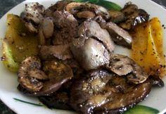 Grillezett csirkemáj grillezett zöldségekkel