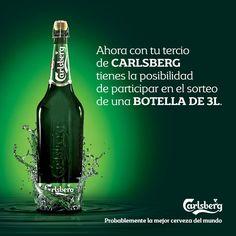 Pide una #Carlsberg en tu #bar habitual y sabrás en seguida si has ganado un botellón de #cerveza tamaño XL de... ¡¡ 3 litros!!. Descubre cómo y dónde: http://www.dispedisa.com/productos/bebidas/cerveza/cerveza-carlsberg/promocion-cerveza-carlsberg_-botellon-xl
