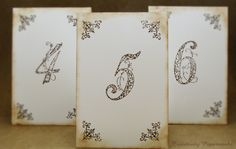 Vintage table numbers by Papier&Paper