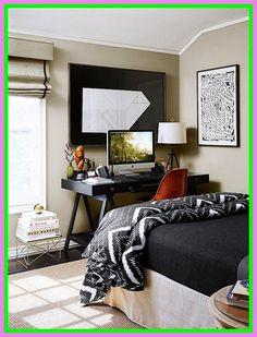 A Creative Director's Small Space Home// bedroom workspace, Nate Berkus bedding, masculine bedroom Bedroom Workspace, Guest Room Office, Room Design, Masculine Bedroom Design, Masculine Bedroom, Bedroom Design, Home Office Decor, Home Bedroom, Small Room Design