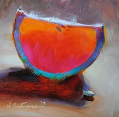 "Daily Paintworks - ""Rainbow Grapefruit"" by Elena Katsyura"