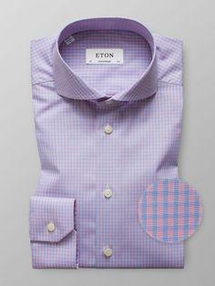 Pink Check Poplin Shirt
