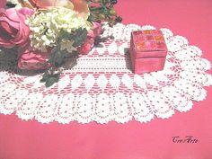 Crochet White Doily Oval Doily Table decorations by CreArtebyPatty