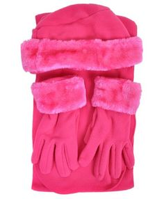 Cloche Fur Trim 3 Piece Fleece Hat, Scarf & Glove Women's Winter Set, Hot Pink boxed-gifts,http://www.amazon.com/dp/B009H8STE0/ref=cm_sw_r_pi_dp_Sx9htb0F2PSWRMC9