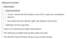 Happiness for deep people : owlmylove: the gradual domination of the Welcome to Night Vale fandom