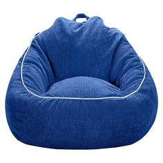 Add a little kid-friendly seating to your child's bedroom or playroom with the XL Corduroy Beanbag Chair from Pillowfort. Comfy and fun, this oversized kids' chair is upholstered in a warm corduroy fabric that'll keep your kids comfortable while they read a book, watch TV, play video games or grab an afternoon nap. Low to the ground and fun to boot, bean bag chairs are awesome for kids! And because it's extra large you'll fit too - but only if your kid's let you. Avail...