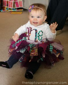 """Co-ed Sibling Woodland Birthday Party - party outfit ideas (hair bow, tutu, """"one"""" shirt for one year old baby girl)"""