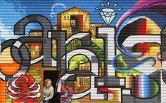 Podívejte se na graffiti evropských, afrických i jihoamerických velkoměst Graffiti, Grafitti Street, Light Art, Art Forms, Amazing Art, Sculptures, Wall Art, Hip Hop, Diamonds