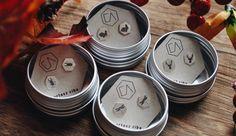 EA Kolczyki srebrne z grawerem: zając, jeleń, ważka i chrząszcz Jewellery, Jewels, Schmuck, Jewelry Shop, Jewlery, Jewelery