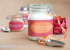 DIY Bath Salts and Pretty Printable Labels