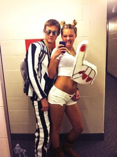 Halloween couples costume! Robin Thicke & Miley Cyrus