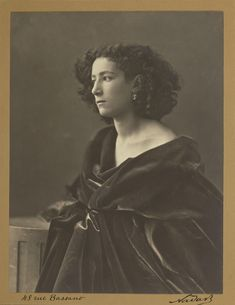 [Sarah Bernhardt]; Nadar [Gaspard Félix Tournachon] (French, 1820 - 1910), Paul Nadar (French, 1856 - 1939); negative about 1864; print about 1924 ?; Gelatin silver print; 21.1 x 16.2 cm (8 5/16 x 6 3/8 in.); 84.XM.436.494; J. Paul Getty Museum, Los Angeles, California