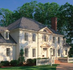 """""""MY"""" home! William Poole design home in Williamsburg, VA.  Colonial Home Magazine's 25th anniversary home (before they stopped production)...and the home I built! <3"""
