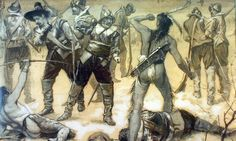Check out this site for facts and information about the Pequot War. Summary, cause and effects of the Pequot War. Facts, dates, key events and information about the Pequot War Origin Of Thanksgiving, Thanksgiving Stories, Thanksgiving Holiday, Rhode Island, Long Island, Pequot War, King Philip's War, Native American Indians, Native Americans