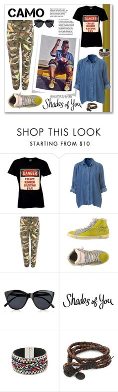 """Camo Street Wise"" by feelgood35 ❤ liked on Polyvore featuring Replay, Ishikawa, Le Specs and Bottega Veneta"