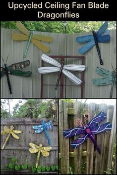 House Plant Maintenance Tips This Upcycled Ceiling Fan Dragonfly in Your Yard is Sure to Make Passers-by Take a Second Look Fan Blade Dragonfly, Dragonfly Yard Art, Garden Crafts, Diy Crafts, Garden Art, Garden Whimsy, Garden Junk, Glass Garden, Yard Art Crafts