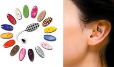 Crest fitted hearing aid, looks like jewelry!