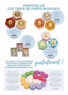 Du 16 au 19 mars,profitez de nos Offres spéciales un trio de porte bougie acheté=1 echantillonneur 18 bougies rechauds,valeur 13,50€ ,en cadeau