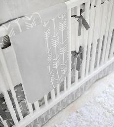 Gray Arrow Baby Bedding | Arrow Crib Bedding | Neutral Baby Bedding