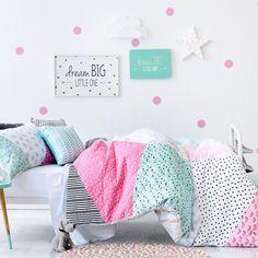 Chambre d'enfants aux couleurs acidulées, | Adairs Kids Tilly Quilt Cover Set, kids quilt covers, doona covers from Adairs Kids