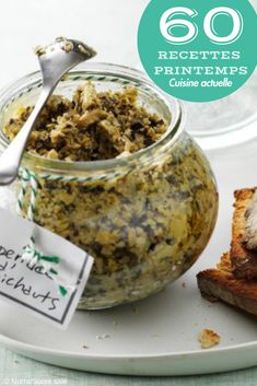 A spread that will not fail to surprise your guests, it is good and it changes this tapenade with artichokes! Perfect in spring and summer on good toast or with crunchy vegetables Source Tapenade, Tostadas, Dip Recipes, Vegan Recipes, Dirt Cheap Meals, Best Toasts, Marinade Sauce, Pasta, Brunch