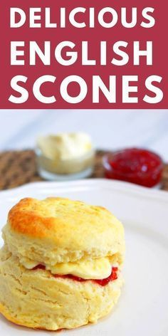 Scones And Clotted Cream, Scones And Jam, Clotted Cream Recipes, Traditional English Scones Recipe, Simple English Scone Recipe, Scone Recipe Easy, Traditional British Food, Classic Scones Recipe, Baking Recipes