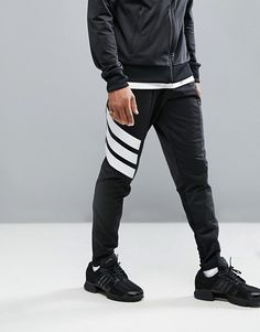 adidas Tango Skinny Joggers In Black Adidas Outfit, Adidas Pants, Adidas Men, Urban Fashion, Mens Fashion, Fashion Edgy, Gym Outfit Men, Pants Outfit, Skinny Joggers