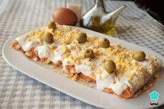 Tasty Vegetarian Recipes, Healthy Recipes, Canapes, Italian Recipes, Tapas, Oatmeal, Food And Drink, Yummy Food, Bread
