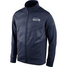 Mens Seattle Seahawks Nike College Navy Warp Performance Jacket 1fe3f1fb2