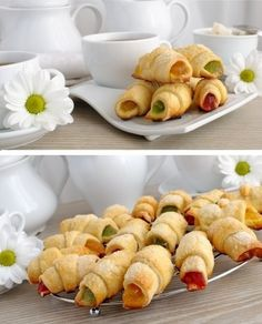 Cornulete cu rahat - Femeia.ro Romanian Food, Romanian Recipes, Deserts, Peach, Sweets, Cookies, Cake, Crack Crackers, Gummi Candy