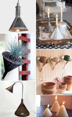 I'm a fan of creative reuse--and after years of upcycling all kinds of junk into items for my home, I now see all kind of objects in a new light. Here are a few of my favorite items turned into new pieces. Home Projects, Craft Projects, Projects To Try, Craft Ideas, Diy Ideas, Fun Crafts, Diy And Crafts, Arts And Crafts, Reuse